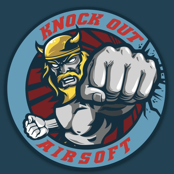 knock out airsoft squad logo